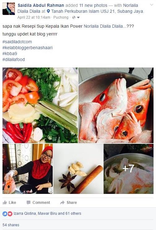 resepi sup kepala ikan merah dlaila