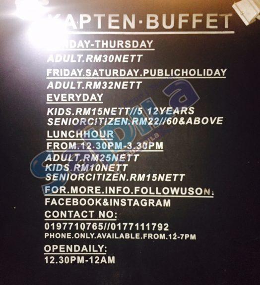harga buffet steamboat kapten johor bahru